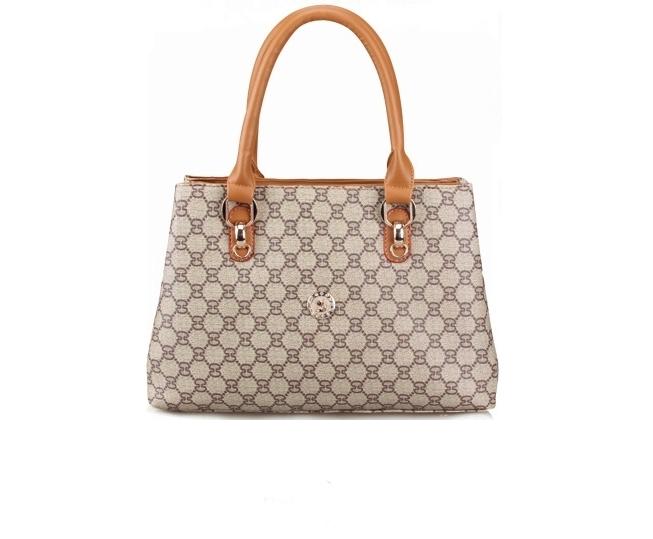 กระเป๋าหนังPU ลายกุชชี่ หนังPUด้านในบุซับในอย่างดี 3ช่องใหย่ใส่ของจุใจ +แถมฟรี Twilly พันหูกระเป๋า