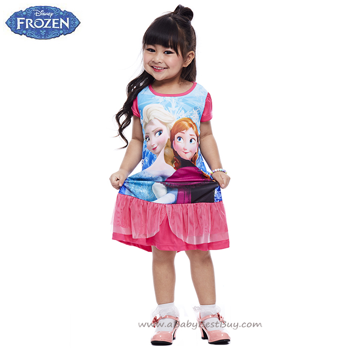 ( 4-6-8-10 ปี ) ชุดเดรส Frozen ใส่สบาย ดิสนีย์แท้ ลิขสิทธิ์แท้ (สำหรับเด็ก4-6-8-10 ปี)