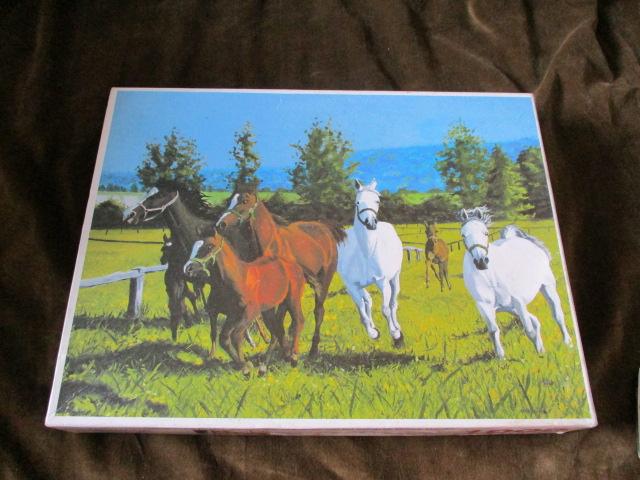 จิ๊กซอว์ 1,000ชิ้น Horses in the Field