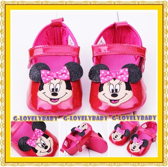 Minnie Mouse Disney Pre-walker Infant Shoes รองเท้าเด็ก คุณภาพดี รองเท้าเด็กแบรนด์เนม รองเท้าเด็กผู้หญิงน่ารัก รองเท้าเด็กหญิงวัยหัดเดิน ยี่ห้อ Disney