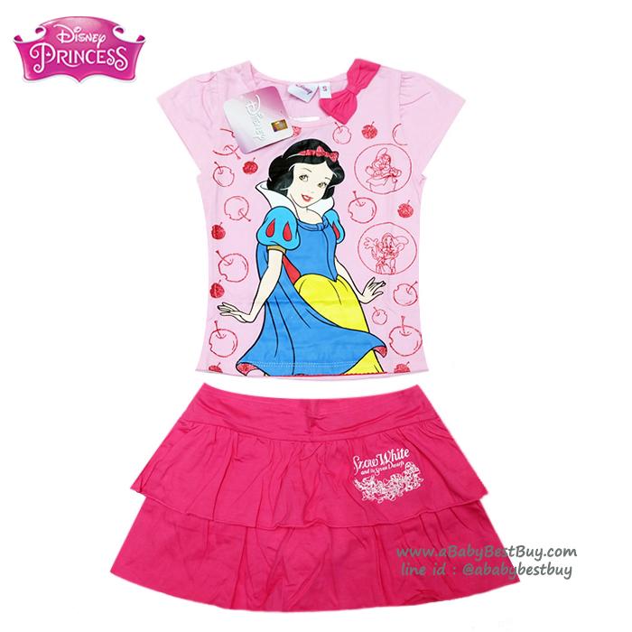 (Size S-M-L) ชุดเสื้อ กระโปรง ลายเจ้าหญิงสโนไวท์ สีชมพู ดิสนีย์แท้ ลิขสิทธิ์แท้ (สำหรับเด็ก1-2-3 ปี)