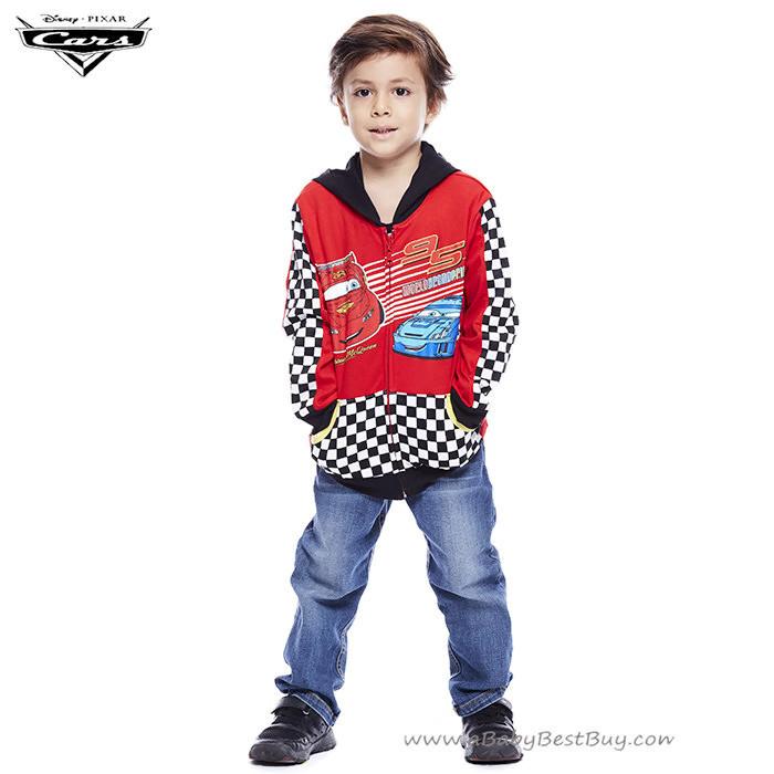 ( Size S-M-L ) Jacket Disney Cars เสื้อแจ็คเก็ต เสื้อกันหนาว เด็กผู้ชาย สกรีนลาย คาร์ สีแดง รูดซิป มีหมวก(ฮู้ด)สีดำ ใส่คลุมกันหนาว กันแดด ใส่สบาย ดิสนีย์แท้ ลิขสิทธิ์แท้