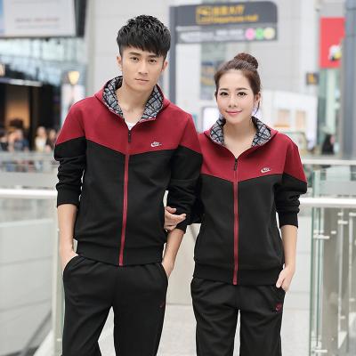 Pre-order ชุดกีฬา ชุดวอร์ม ชุดออกกำลังกายแฟชั่น เสื้อแขนยาว กางเกงขายาว ชุดทีม ชาย-หญิง สีดำ-แดงเลือดหมู