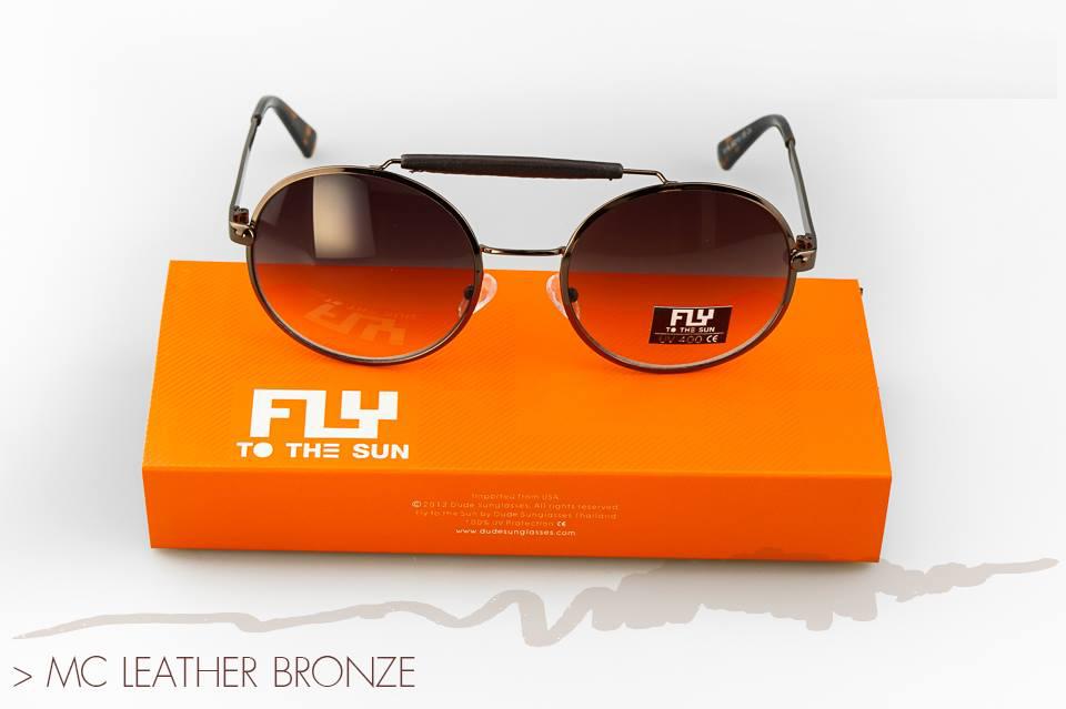 [พร้อมส่ง] แว่นกันแดด Fly to the sun รุ่น Mc Leather