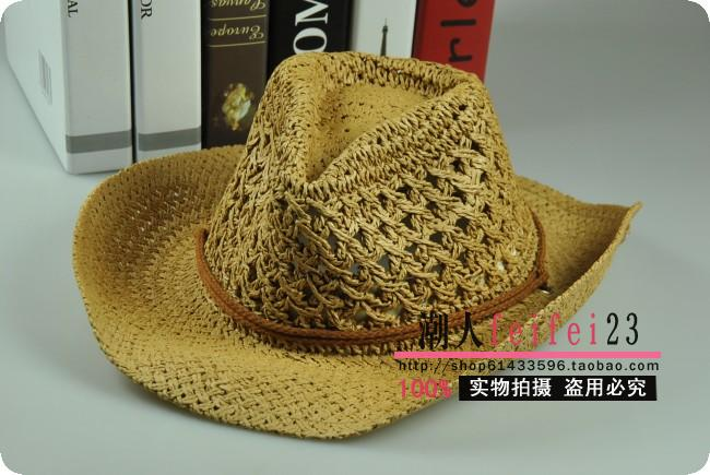(Pre-order) หมวกปีกกว้าง หมวกสาน ป้องกันแดด สำหรับกิจกรรมกลางแจ้ง เที่ยวทะเล สีกากี
