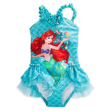 Ariel Deluxe Swimsuit for Girls from Disney USA ของแท้100% นำเข้า จากอเมริกา