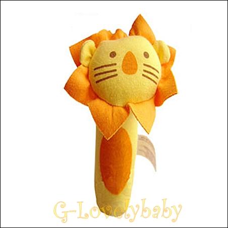 ของเล่นเด็กทารก ของเล่นเสริมพัฒนาการเด็ก ตุ๊กตาของเล่นเด็กอ่อน ตุ๊กตารูปสัตว์ปี๊ปๆ สิงโตสีส้ม