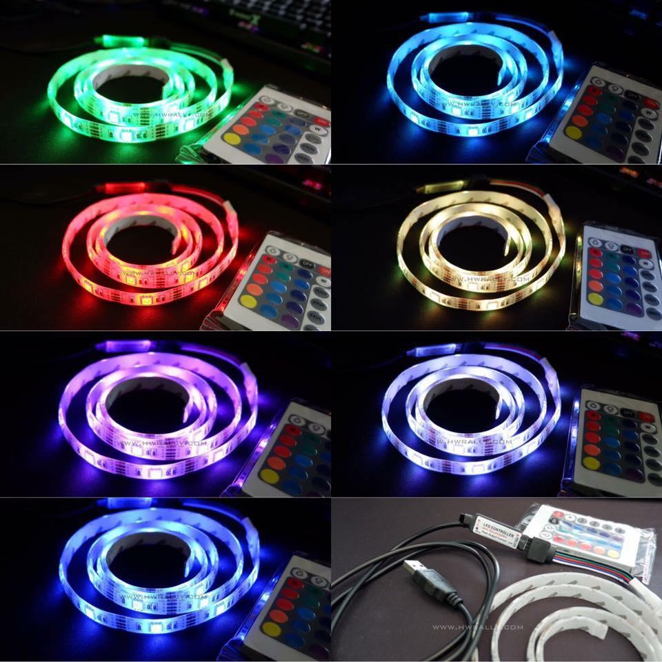 ไฟ LED แบบ RGB ปรับไฟได้