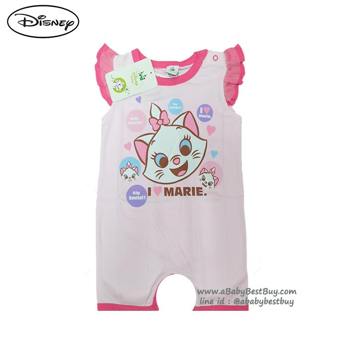 ( S-M-L ) ชุดนอนเด็ก บอดี้สูทเด็ก เบบี้ Disney Marie ชุดแขนสั้นสีชมพู ดิสนีย์แท้ ลิขสิทธิ์แท้ (สำหรับเด็กอายุ 0-24 เดือน)