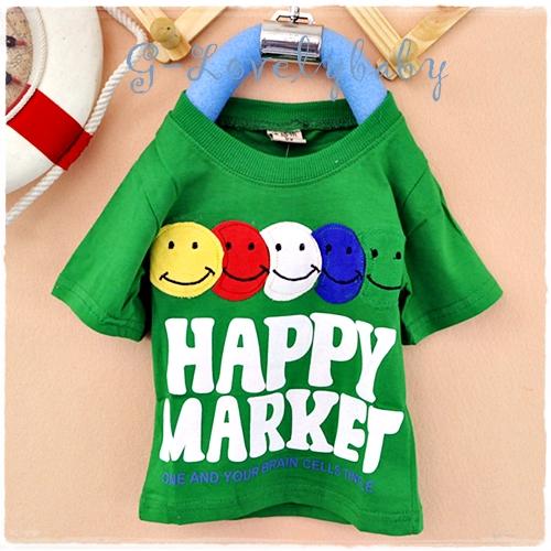 เสื้อผ้าเด็ก เสื้อยืดแขนสั้น เสื้อยืดแขนสั้นเด็ก เสื้อเด็กสไตล์เกาหลี เสื้อยืดเด็กชาย size 110