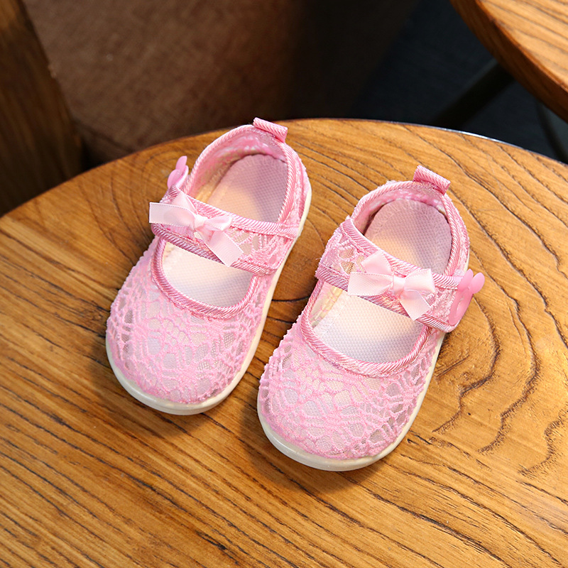 Pre-walker Baby Shoes รองเท้าเด็ก รองเท้าเด็กผู้หญิง รองเท้าเด็กวัยหัดเดิน รองเท้าเด็กพื้นยางกันลื่น size 22 (13.5cm) 18-24M พร้อมส่ง