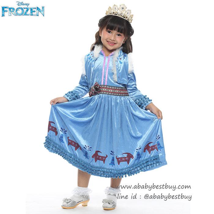 """"""" ชุดเดรส ชุดแฟนซี เจ้าหญิงอันนา Frozen ภาค2 ผจญภัยแดนคำสาปราชินีหิมะ ผ้าดี ใส่สบาย (สำหรับเด็กอายุ 3-10 ปี)"""