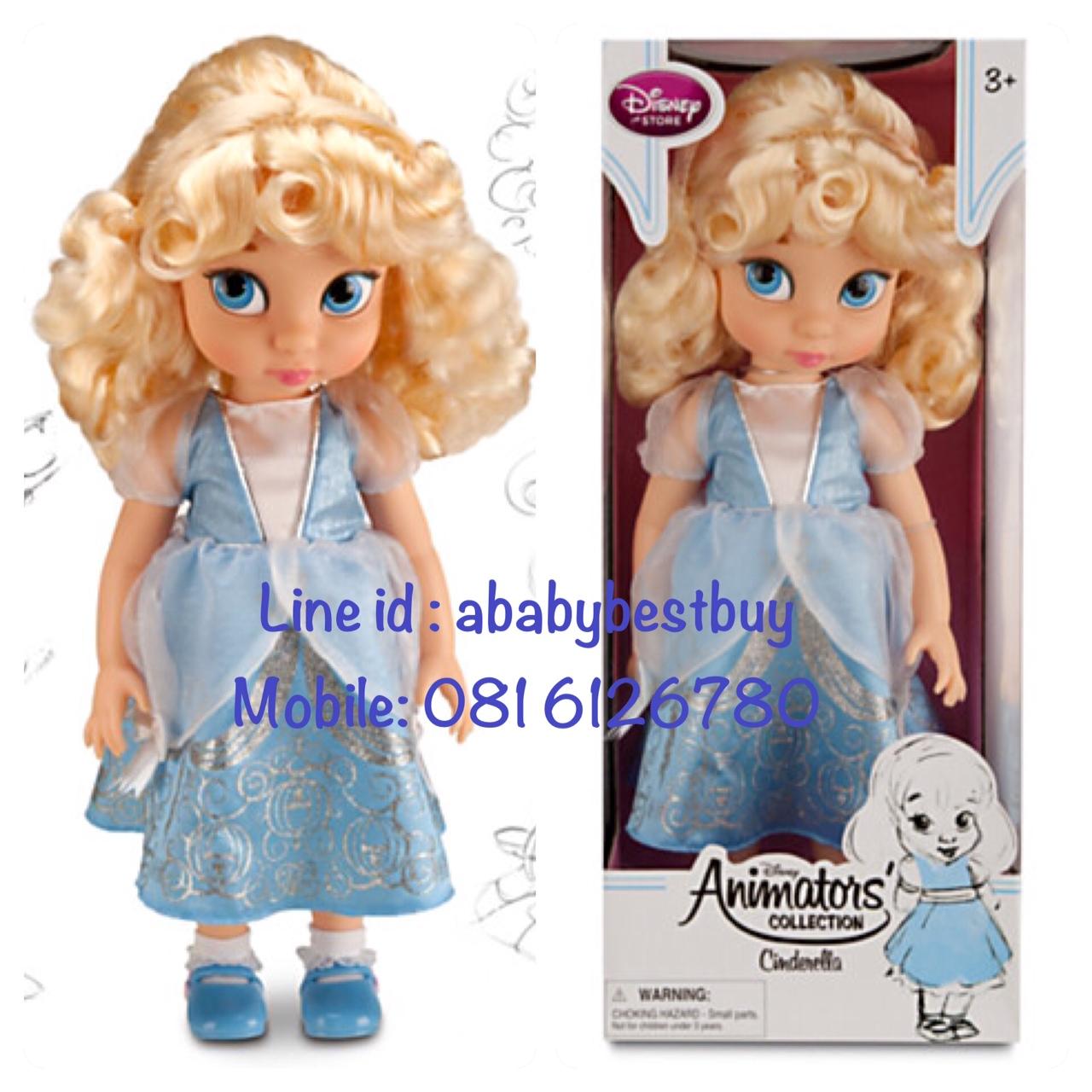 z Disney Animators' Collection Cinderella Doll - 16'' รุ่นใหม่ (พร้อมส่ง) ตุ๊กตาดีสนีย์ แอนิเมเตอร์ เจ้าหญิงซินเดอเรล่า รุ่นใหม่ รุ่น2 (รุ่นสอง)