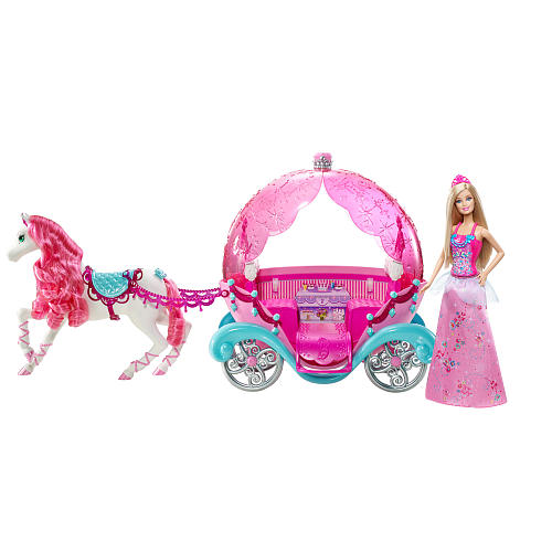 z Barbie Fairytale Horse and Carriage ของแท้100% นำเข้าจากอเมริกา