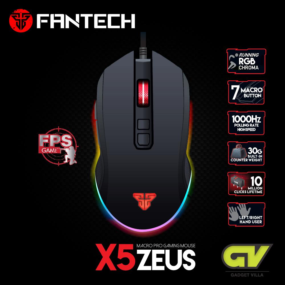 Fantech X5 Zeus Gaming Mouse Macro