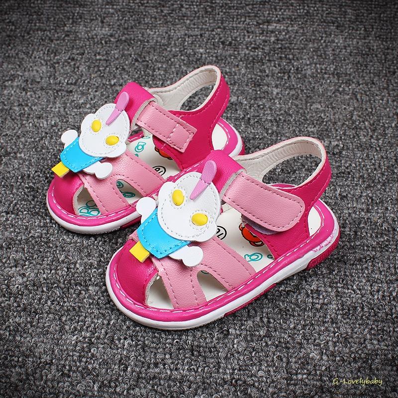 รองเท้าเด็ก รองเท้าแตะเด็ก รองเท้าเด็กวัยหัดเดิน รองเท้าเด็กเสียงดังปี๊บๆ พร้อมส่ง