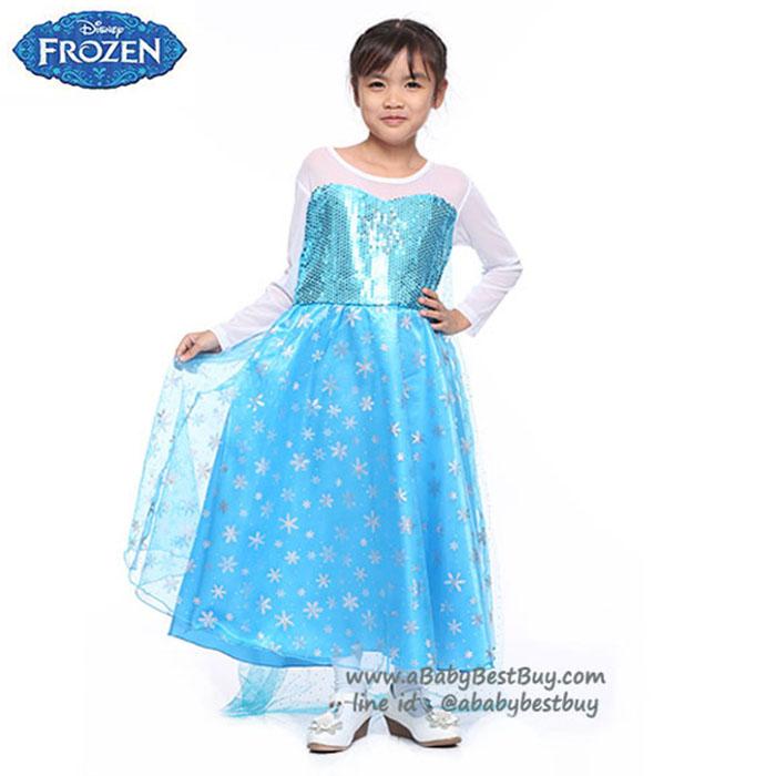 """"""" ชุดเดรส ชุดแฟนซี เจ้าหญิงเอลซ่า Frozen ชุดแฟนซีเจ้าหญิง ผ้าดี ใส่สบาย (สำหรับเด็กอายุ 3-8 ปี)"""