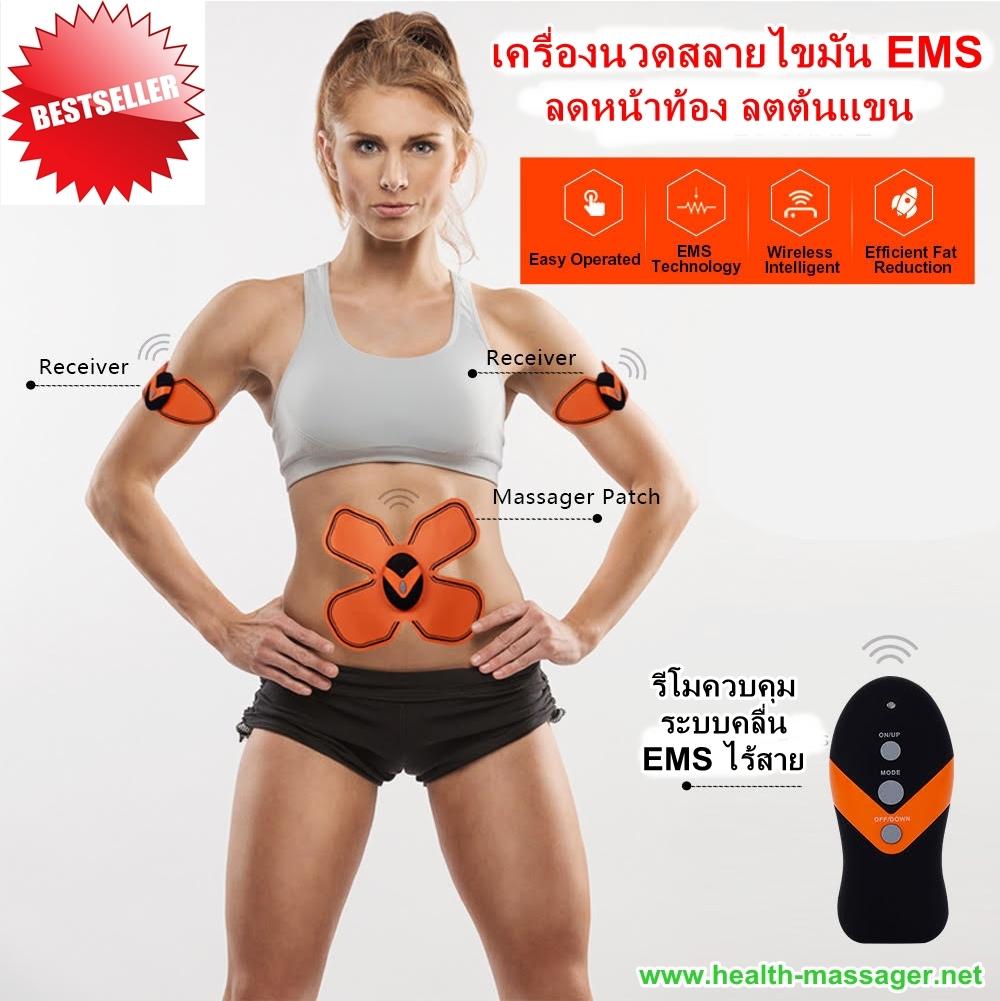 สินค้าใหม่ !!! เครื่องนวดแผ่นเจลสลายไขมัน EMS แผ่นสลายไขมัน ลดหน้าท้อง ลดต้นขน ลดต้นขา ไร้สาย พร้อมรีโมทควบคุม เกรดเอ มาตรฐานยูโรป