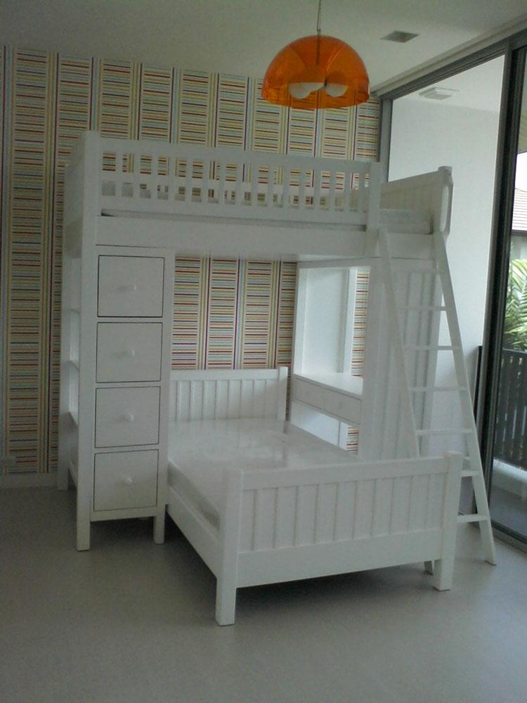 เตียงนอน 2 ชั้น รุ่นพิเศษ เตียงตัวแอล