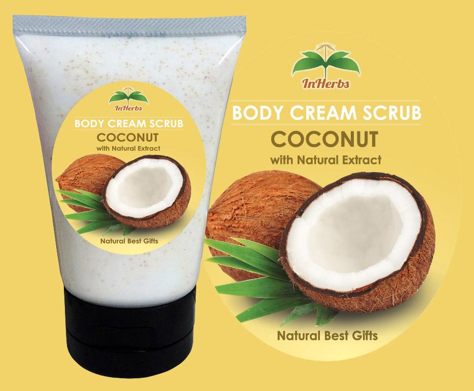 """THAI COCONUT"" Body Cream Scrub / ครีมสครับขัดผิว มะพร้าวไทย"