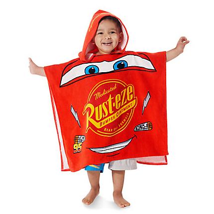 Lightning McQueen Hooded Towel for Kids from Disney USA ของแท้100% นำเข้า จากอเมริกา