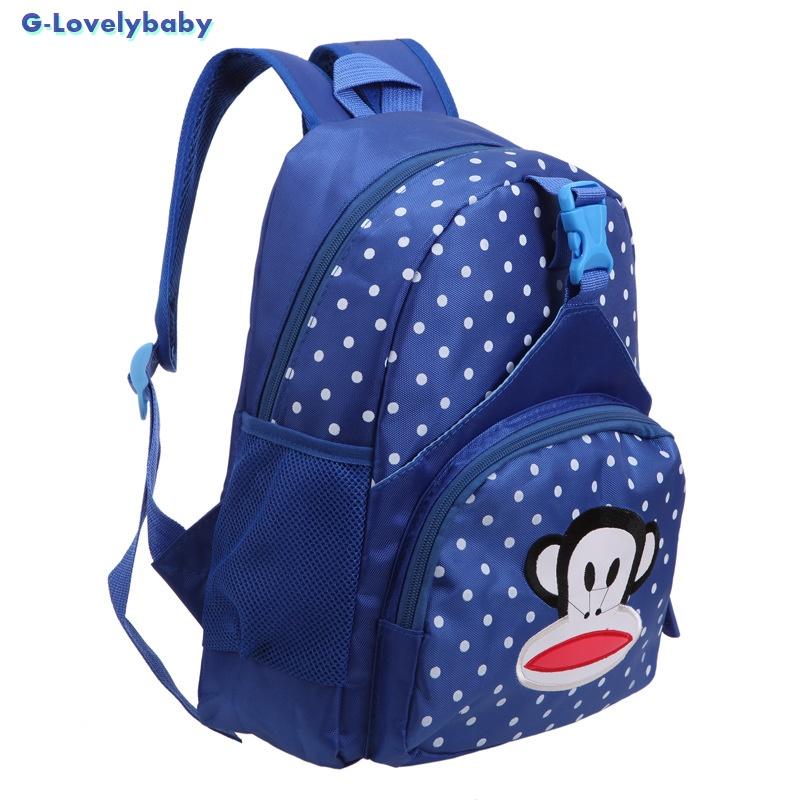Kids Backpacks , Kindergarten Backpacks กระเป๋าเป้เด็ก กระเป๋าเด็กลายการ์ตูน หน้าลิง กระเป๋าเป้เด็ก กระเป๋าสำหรับเด็กอนุบาล