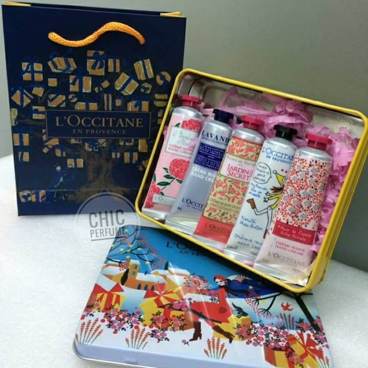 L'OCCITANE HAND CREAM SET 5 PCS (กล่องฟ้า)