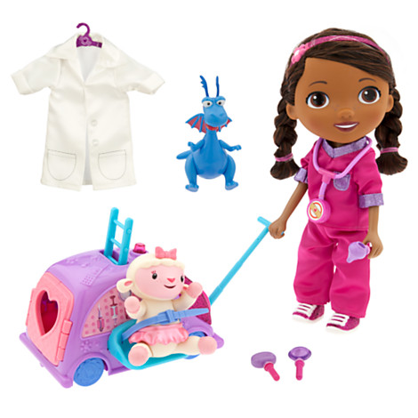 z Doc McStuffins Walk n' Talk Doll and Doc Mobile Play Set