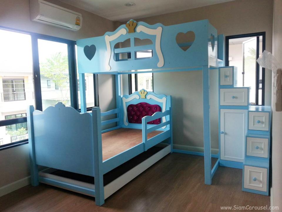 เตียง 3 ชั้น Princess Set