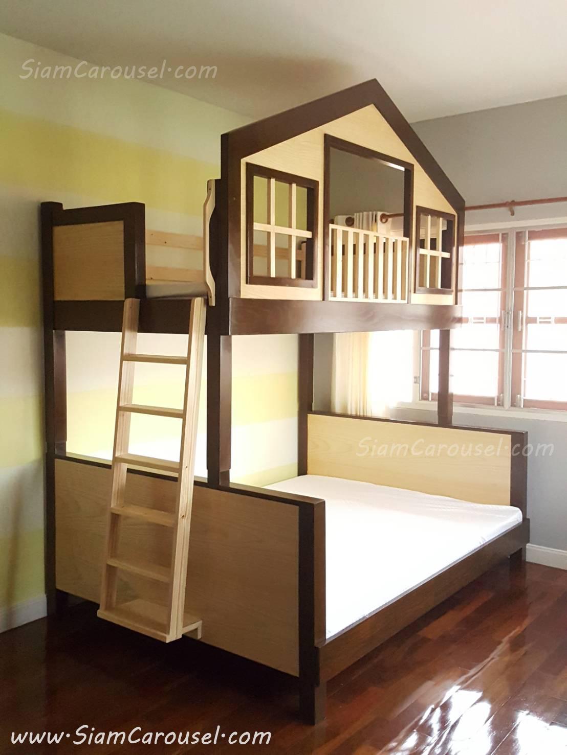 เตียง 2 ชั้น Display ทรงบ้านหน้าจั่ว