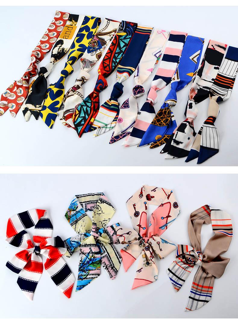 Twilly ริบบิ้นผ้า / ผ้าผูกโบว์ แฟชั่นDIY สายยาว ใช้สำหรับตกแต่งได้หลากหลาย คละลาย
