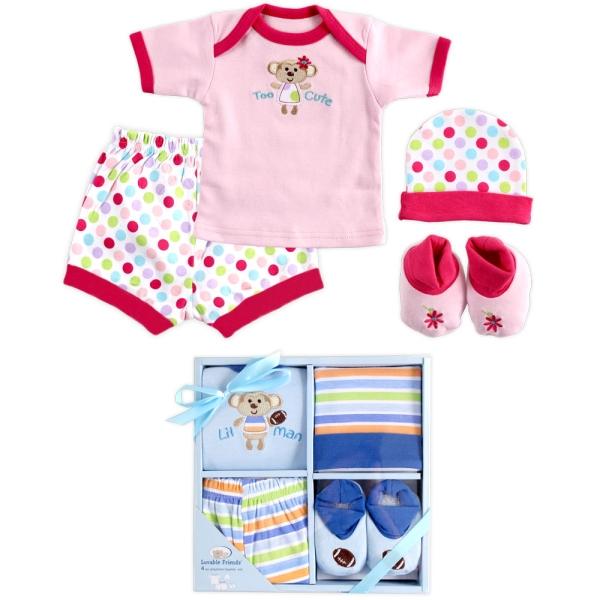 Gift Set เซ็ทของขวัญเยี่ยมคลอด Luvable Friends เสื้อยืด กางเกงขาสั้น หมวก ถุงเท้า
