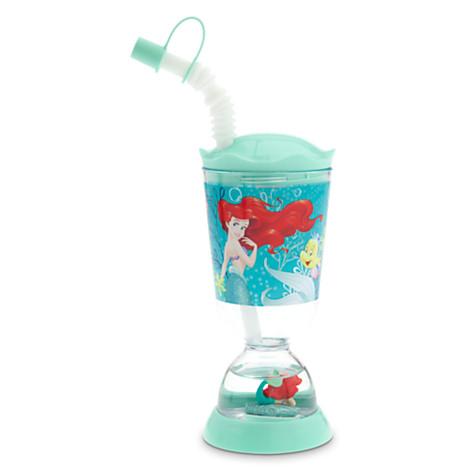 Ariel Snowglobe Tumbler with Straw
