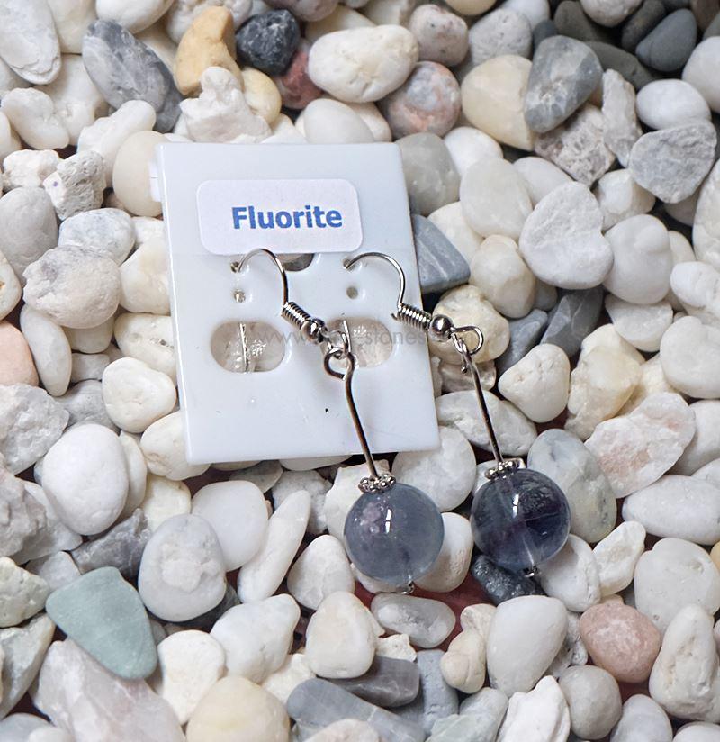 ++ ต่างหู Fluorite ฟลูออไรท์ ++