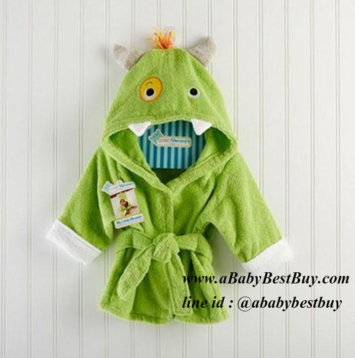 ฮ เสื้อคลุมอาบน้ำเด็กเล็ก เสื้อคลุมว่ายน้ำเด็กเล็ก ลายไดโนเสาร์ สำหรับเด็กเล็ก ตั้งแต่แรกเกิด - 2ขวบ