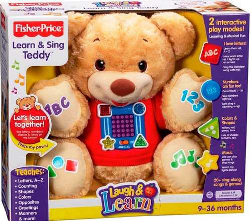 Fisher Price Learning and Singing Teddy Bear Interactive (มือสอง พร้อมกล่อง สภาพ95%)