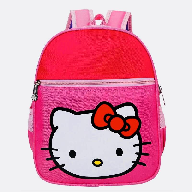 Kids Backpacks Kindergarten Backpacks กระเป๋าเป้เด็ก กระเป๋าเด็กลายการ์ตูน กระเป๋าเป้เด็ก กระเป๋าสำหรับเด็กอนุบาล แมวสีชมพู คิตตี้
