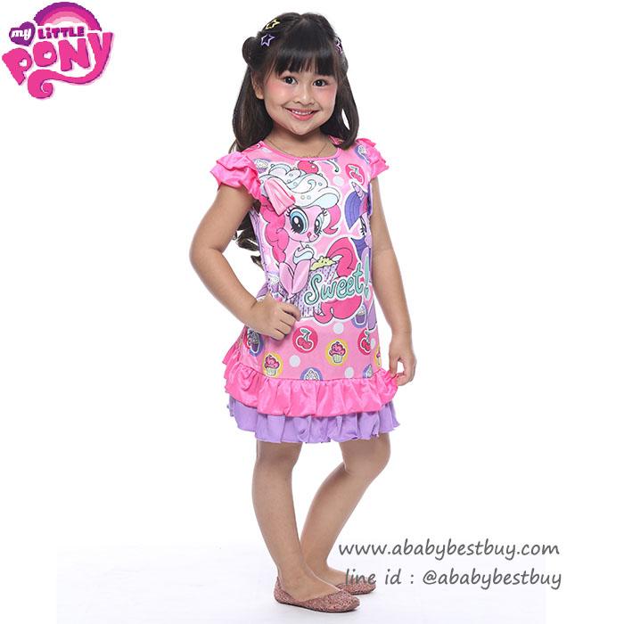 (S-M-L) ชุดเดรส My Little Pony ลิขสิทธิ์ฮาสโบแท้ โพนี่แท้ (สำหรับเด็ก 3-7ปี)