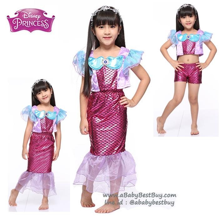 """ฮ """" ชุดเดรส ชุดแฟนซี เจ้าหญิงแอเรียล นางเงือก Ariel จากเรื่อง Little Mermaid ชุดแฟนซีเจ้าหญิง ผ้าดี ใส่สบาย (สำหรับเด็กอายุ 3-10 ปี)"""