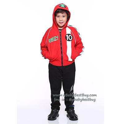 """"""" S-M-L-XL """" เสื้อแจ็คเก็ต Ben10 เสื้อกันหนาว เด็กผู้ชาย สกรีนโลโก้Ben10 รูดซิป มีหมวก(ฮู้ด)ด้านหลังสกรีนลาย Ben10 ใส่คลุมกันหนาว กันแดด สุดเท่ห์ ใส่สบาย ลิขสิทธิ์แท้ (ไซส์ S-M-L-XL )"""