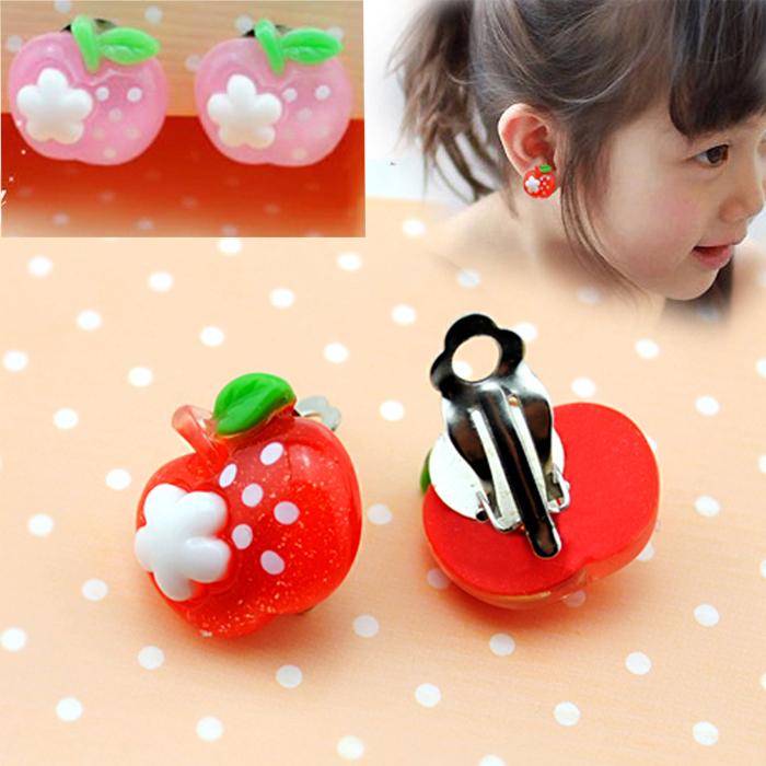ตุ้มหูหนีบ แอ๊ปเปิ้ล 2 สี