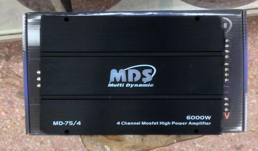 เพาเวอร์แอมป์รถยนต์ 4 CH ยี้ห้อ MDS รุ่น MD-75/4 ขนาด 6000W