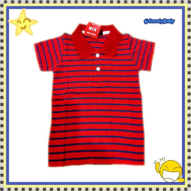 เสื้อผ้าเด็ก เสื้อผ้าเด็กชายแขนสั้นโปโล size M