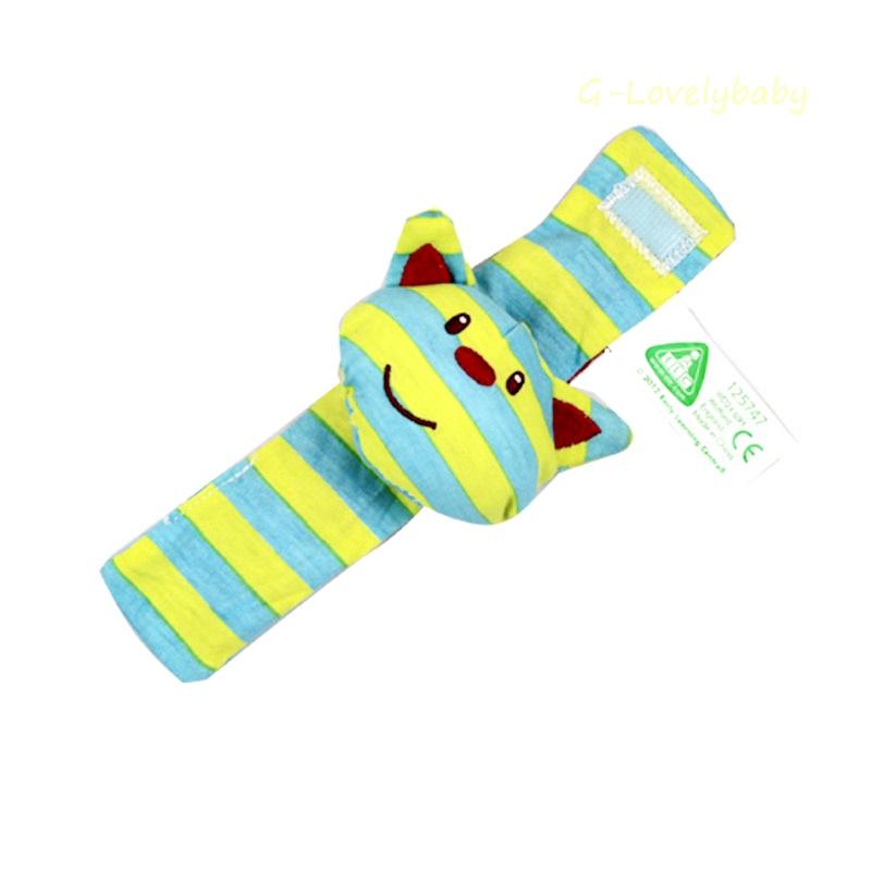 ของเล่นเด็กทารก คุณภาพดี ของเล่นเสริมพัฒนาการเด็ก สายรัดข้อมือผ้าคอตตอนตุ๊กตาสามมิติของเล่นเด็กอ่อน ของเล่นเด็กตุ๊กตารูปสัตว์สามมิติมีกระดิ่งเสียงกรุ๊งกริ้ง