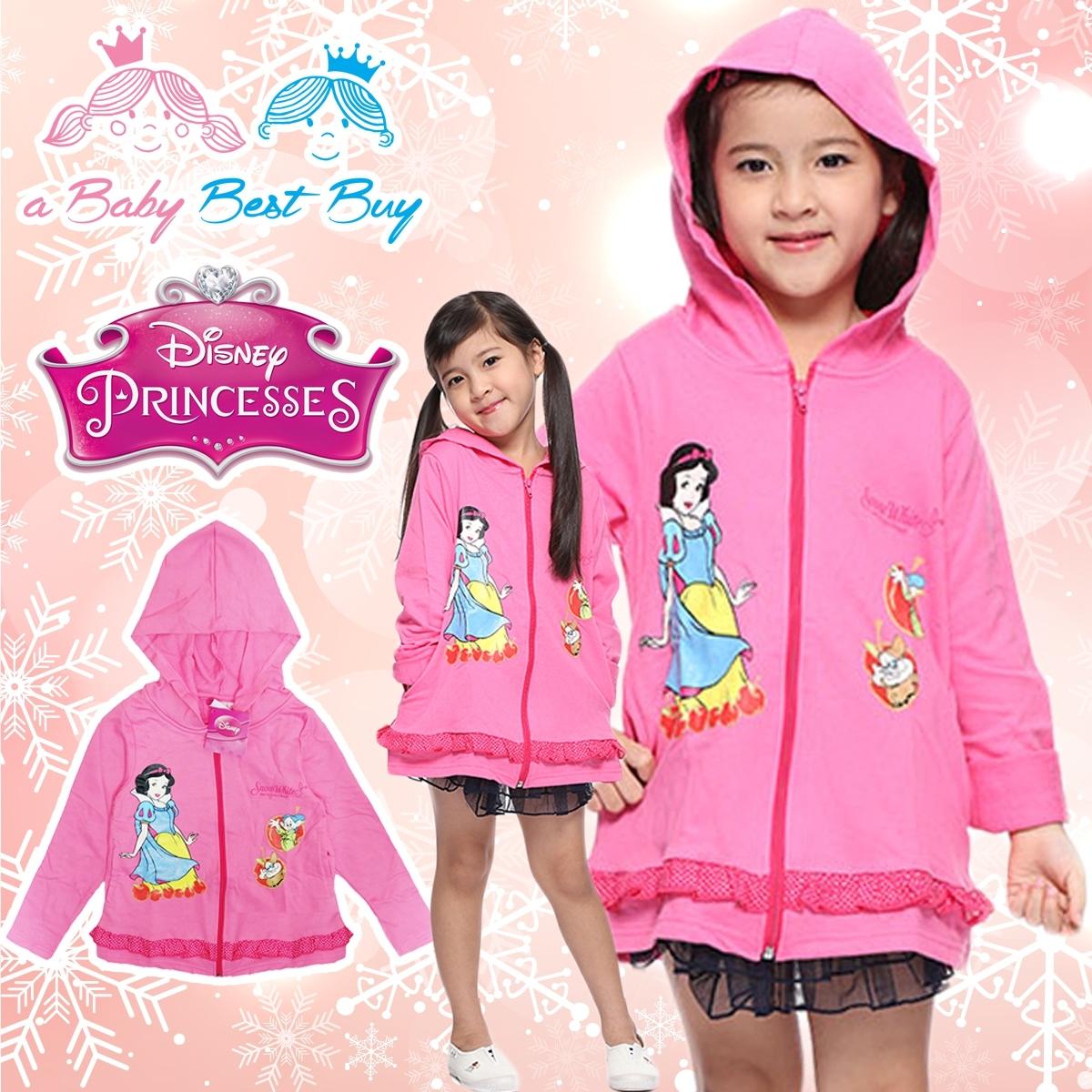 """"""" ( S-M-L-XL"""" Jacket Disney snow white เสื้อแจ็คเก็ต เสื้อกันหนาวแขนยาว เด็กผู้หญิง สกรีนลายเจ้าหญิงสโนไวท์ สีชมพู รูดซิป มีหมวก(ฮู้ด)ใส่คลุมกันหนาว กันแดด ใส่สบาย ดิสนีย์แท้ ลิขสิทธิ์แท้"""