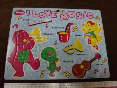 จิ๊กซอว์ 40 ชิ้น Barney (I love music)
