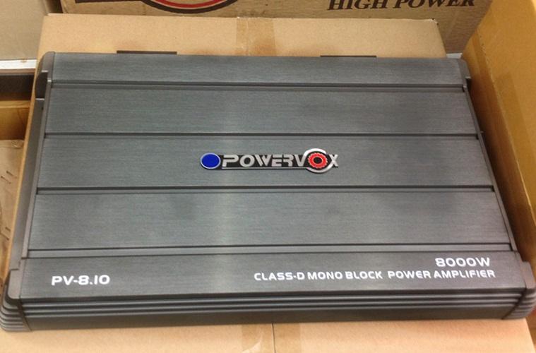 เพาเวอร์แอมป์รถยนต์ คลาสดี ยี้ห้อ POWERVOX กำลังขับ 8000W เพาเวอร์แอมป์รถยนต์ตัวแรง ใช้ขับลำโพงรถยนต์ได้ 10-12 นิ้ว