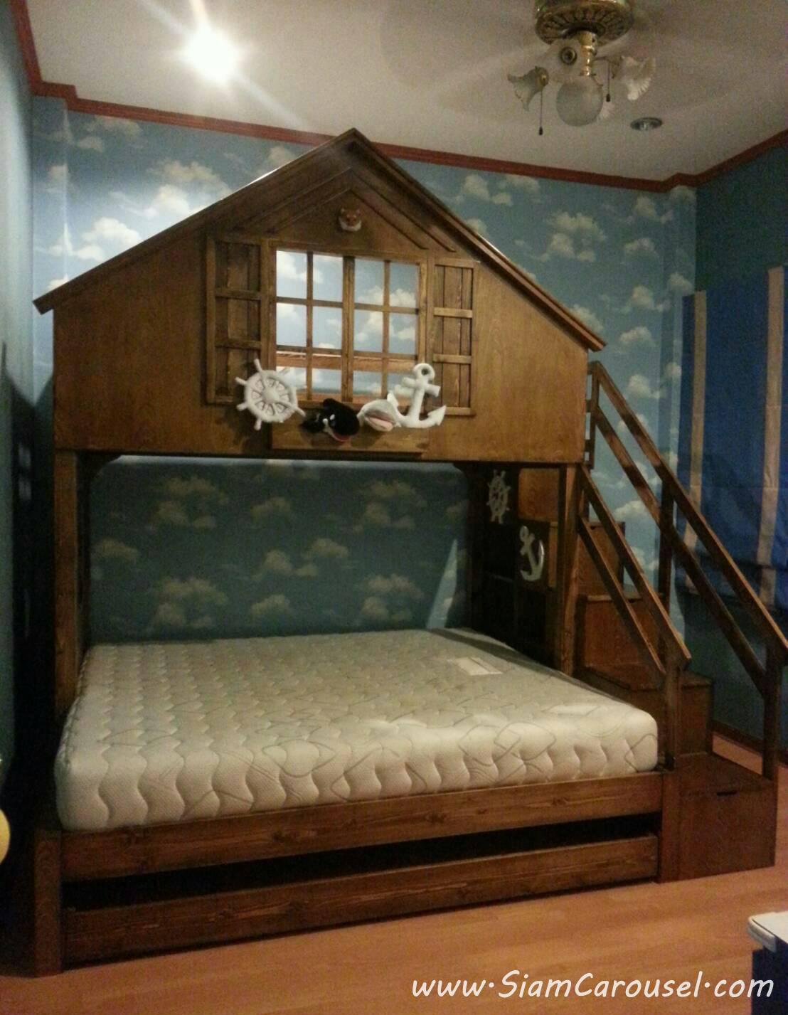 เตียง 3 ชั้น ทรงบ้าน ของคุณ ลดา บ้านฉาง จ.ระยอง