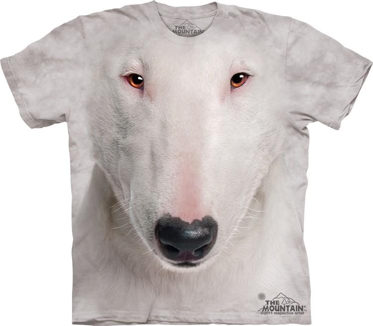Pre.เสื้อยืดพิมพ์ลาย3D The Mountain T-shirt : Bull Terrier Face