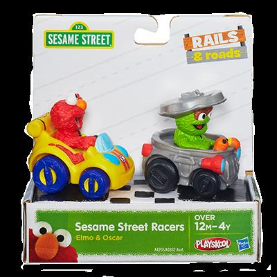 z Sesame Street Racers Elmo and Oscar Playskool